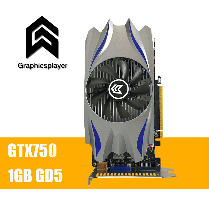 Scheda grafica GTX 750 1024 MB/1 GB GDDR5 a 128bit VGA Placa de Video carte graphique Scheda Video per NVIDIA Geforce PC fan