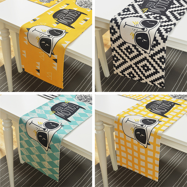 Cat Themed Canvas Tablecloth
