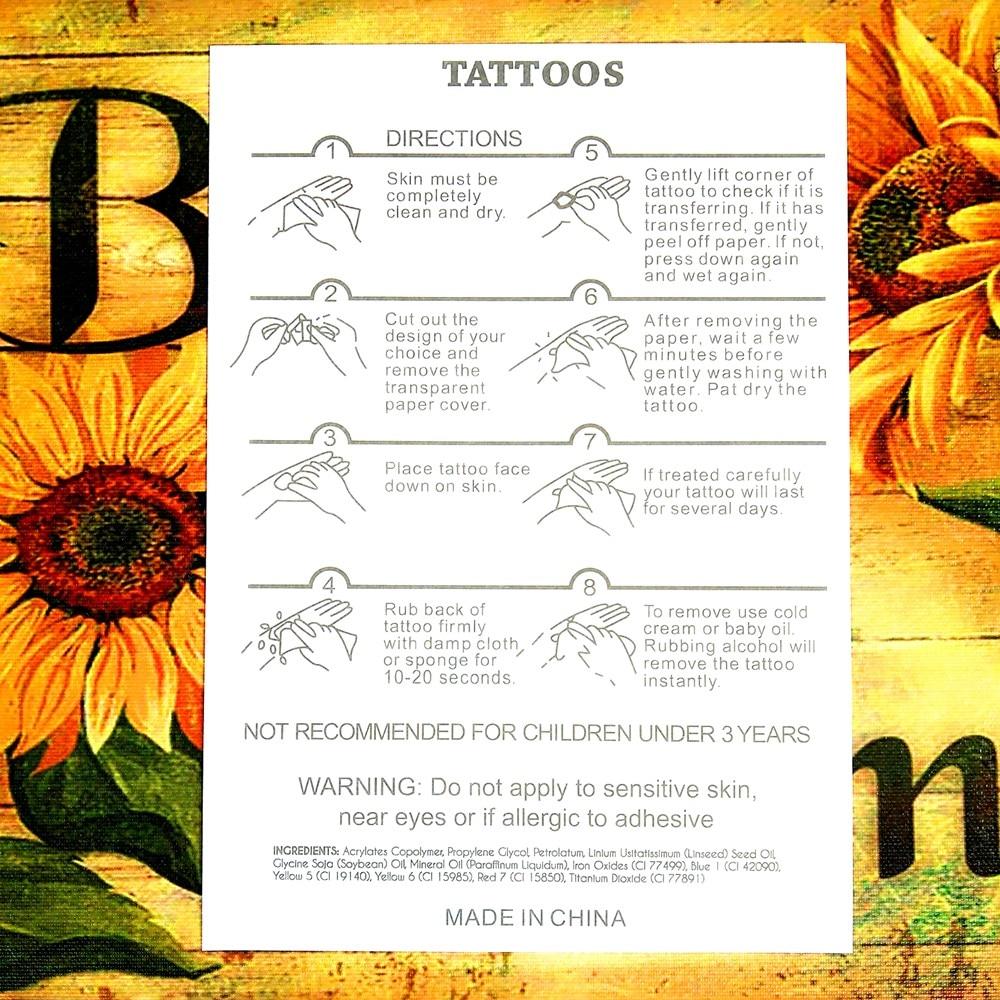 Fghgf Alphabet Arabic Numbers Ms Lasting Tattoo Men S Stickers
