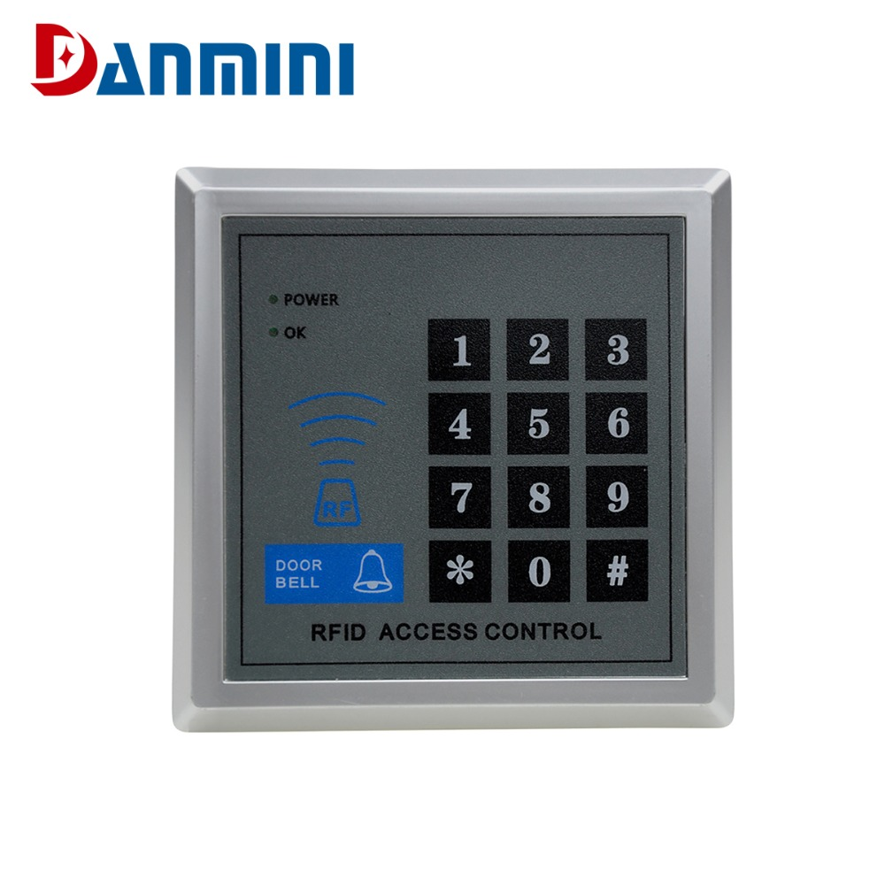 DANMINI MJPT019 Rfid Door Access Control System Kit Set + Electric Control Door Lock + Rfid Keypad Code IN STOCK Free Shipping wholesale new white rfid card reader code keypad door access control system electric strike door lock in stock free shipping