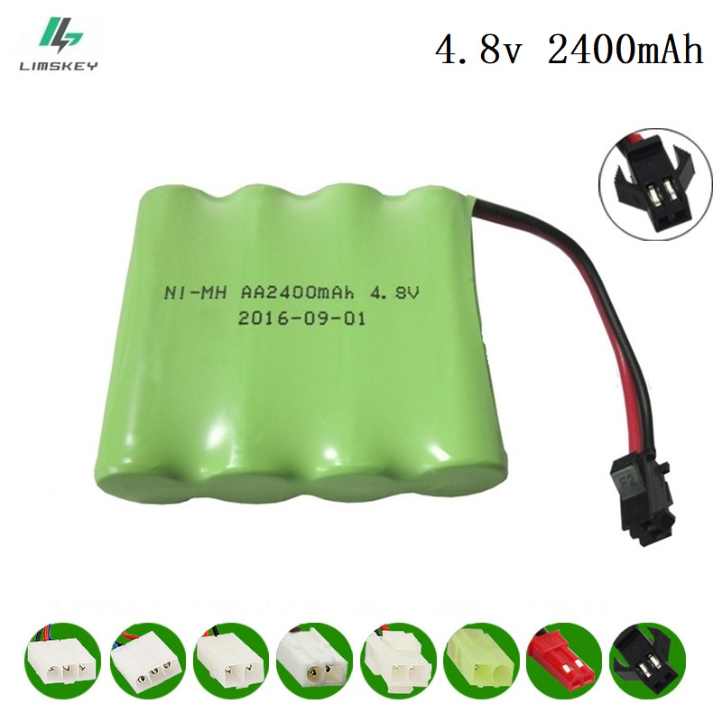 4.8V 2400mAh Remote Controul Toy Guns Eletric Lighting Lighting Securty Faclities 4*AA Battery RC Toy Battery Group 4.8v Battery