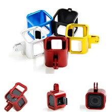 อลูมิเนียมอุปกรณ์เสริมสำหรับGoproฮีโร่4/5เซสชั่นกล้องป้องกันกรณีที่อยู่อาศัยกรอบสำหรับไปโปรฮีโร่4/5เซสชันเมา