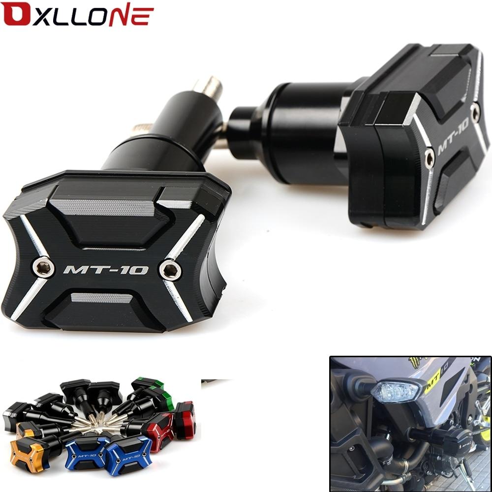 With MT 10 logo Motorcycle Frame Crash Pads Engine Case Sliders Protector For Yamaha MT 10