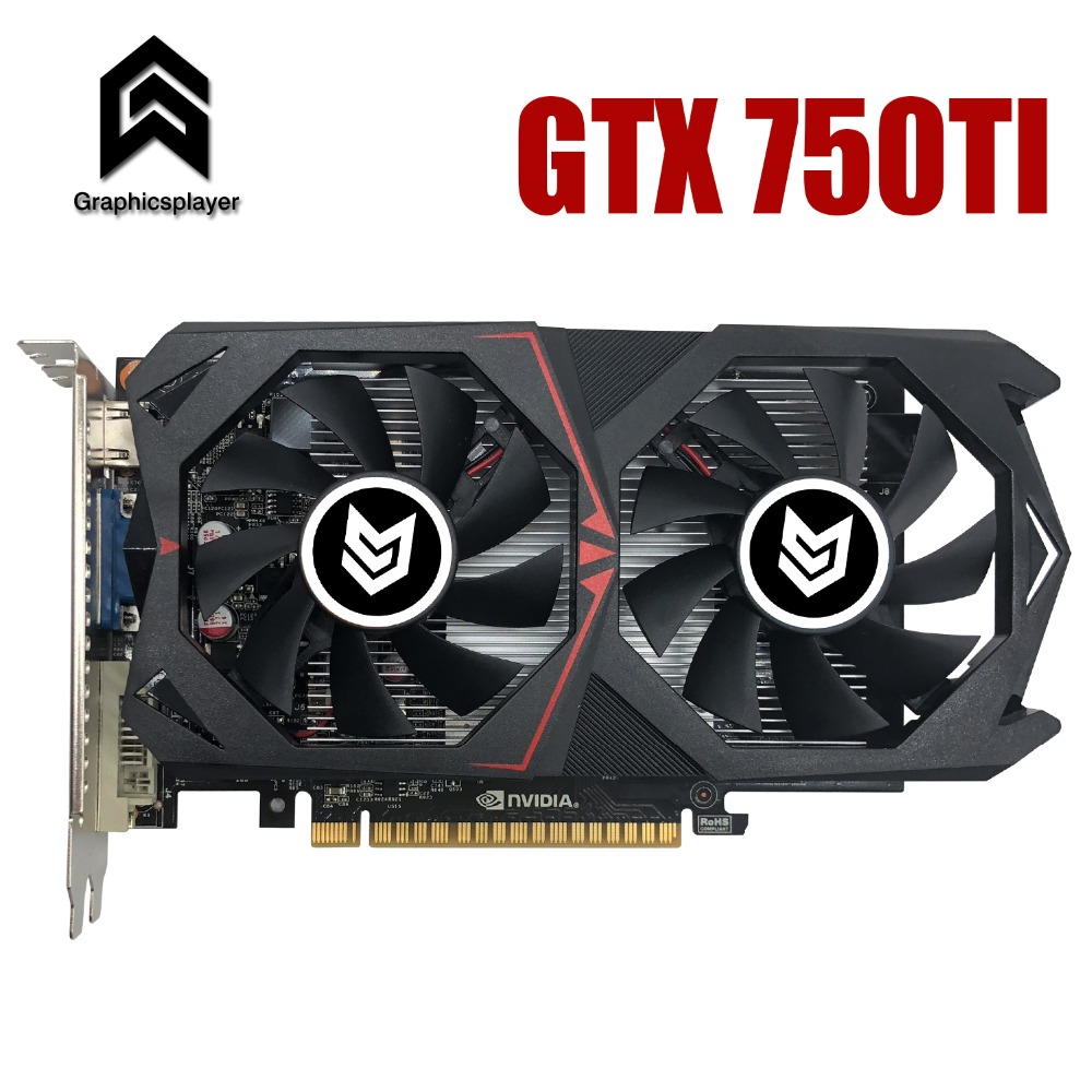 Tarjeta gráfica PCI-E 16X GTX750TI GPU 2G/2048 Mb DDR5 para nVIDIA Geforce viruta Original PC vídeo tarjeta