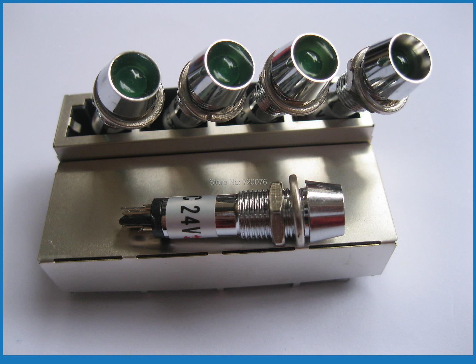 ФОТО 100 pcs LED Indicator Green Color DC 24V New