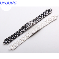Hot Sale Ceramic Watchband Black White Watch Accessories Lovers Bracelet For ChanelStrap