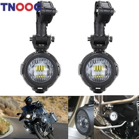TNOOG 40W LED Auxiliary Lamp 6000K Super Bright Fog Driving Light Kits For Motorcycle BMW R1200GS F800GS K1600 KTM HONDA