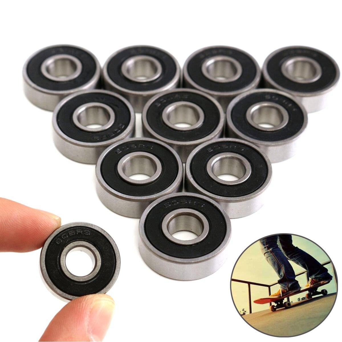 8X Skateboard Longboard Bearings ABEC 9 Stainless Chrome Steel Silence Dustproof