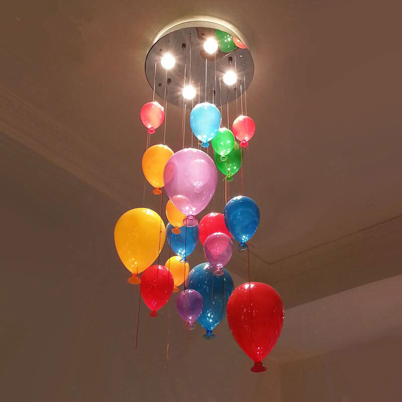 Modern Personalized Multicolour Glass Balloon Pendant ...