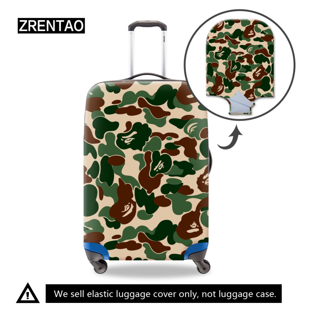 All Green Christmas Leaves Travel Luggage Protector Case Suitcase Protector For Man/&Woman Fits 18-32 Inch Luggage