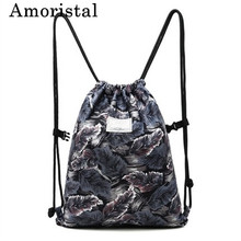 Women Drawstring Bag Best Selling High Quality Polyester Fashion Men Casual Storage Bags Travel Beach Shoulder Bags 15 Inch B223
