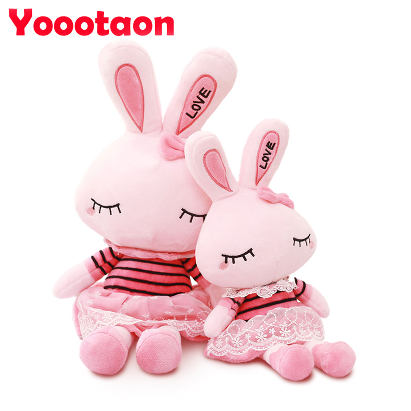 35cm/50cm Lovely Rabbit plush kids toys Bunny Stuffed dolls wearing beautiful lace skirt for girls Birthday Christmas gift cute rabbit dolls plush toys luminous love bunny dolls girls birthday gift 100cm