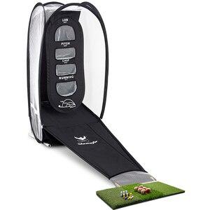 Image 2 - Golf praxis net und schlagen matte Tragbare Indoor und outdoor golf Training aids