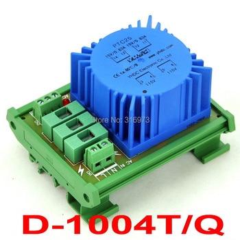 P 115VAC, S 2x 15VAC, 25VA DIN Rail Mount Toroidal Power Transformer Module.
