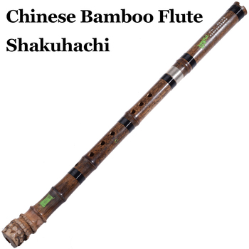 Chinese Bamboo Flute Shakuhachi Ethnic Woodwind Musical Instrument Vertical Bambu Flauta Nan Xiao with Root End Root End