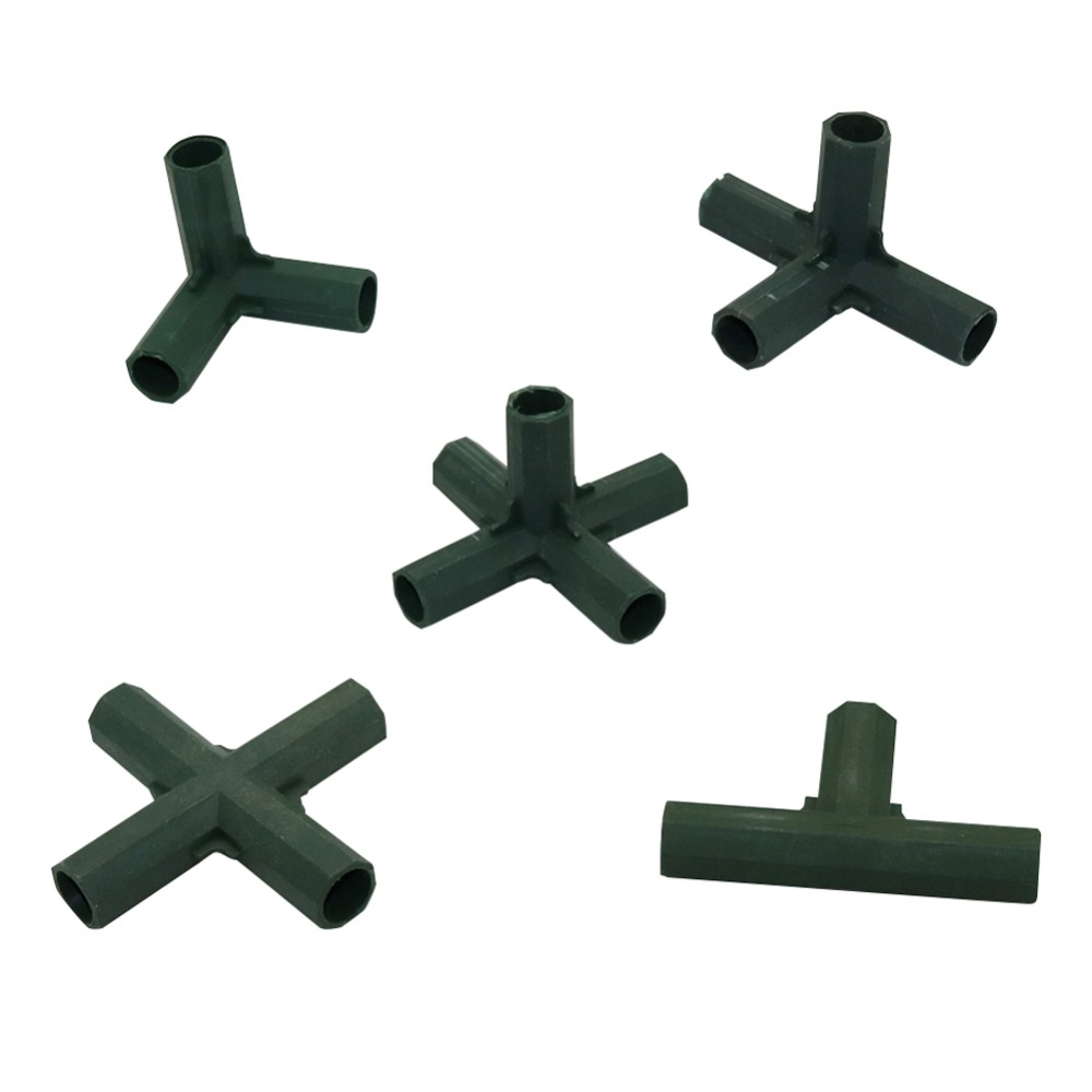 16 Mm Plant Support Connectors Bracket Joint Plastic Connector Gardening Lawn Stakes Edging Corner Connectors 1 Pcs