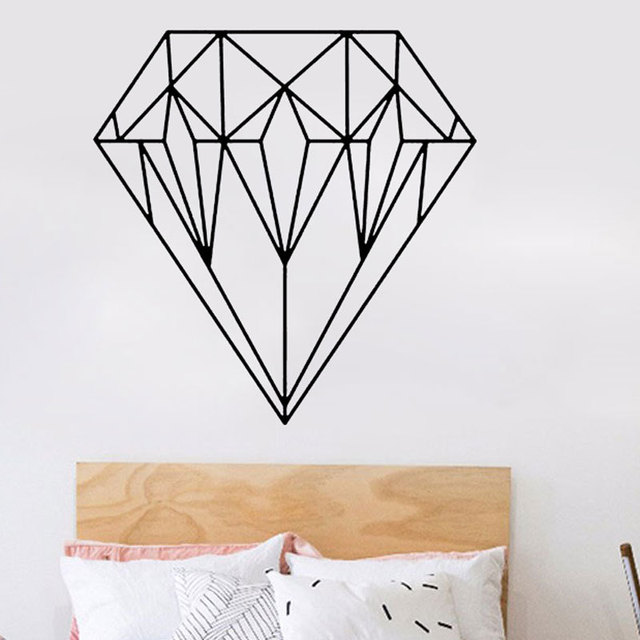 Rzezbione Geometryczne Diamenty Grafiki Naklejki Scienne Removable