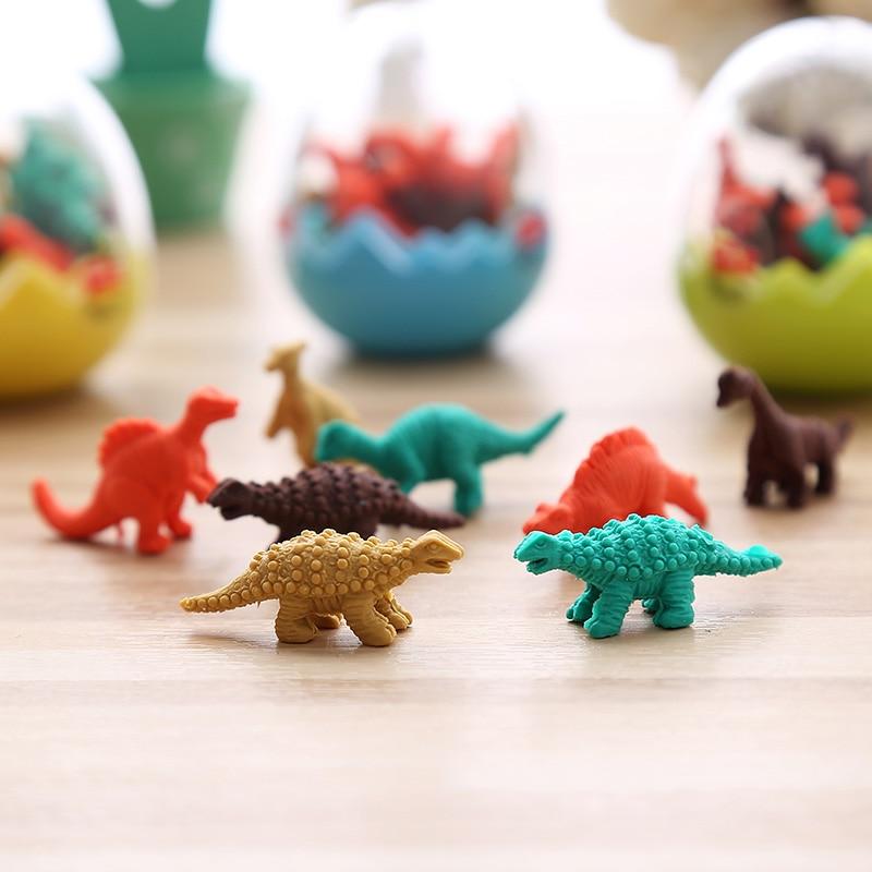 MIRUI Dinosaur Modelling With A Dinosaur Egg Shape Eraser Creative Cartoon Cute Shape Eraser Students Stationery