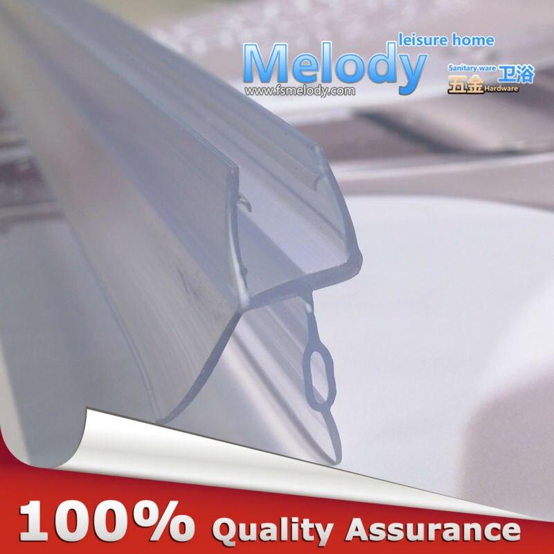 Me-309D2 Pantalla de ducha de baño sellos grandes de goma tiras impermeables puerta de cristal longitud del sello inferior: 700mm gap10-17mm