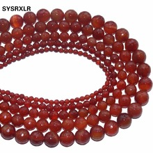Free Shipping Natural Stone Beads Faceted Red Agat For Jewelry Making DIY Bracelet Necklace 4 6 8 10 12 MM Strand 15.5