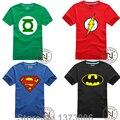 Camiseta Superman Batman Comic Super Hero Capitão América Marvel Filme do Flash Menino Dos Homens Cosplay Camisetas Tshirt Camiseta Nerd