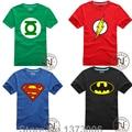 Comic Super Hero Футболка Супермен Бэтмен Капитан Америка Вспышки Marvel Фильм Мужчины Мальчик Косплей Футболки Футболка Geek Tee