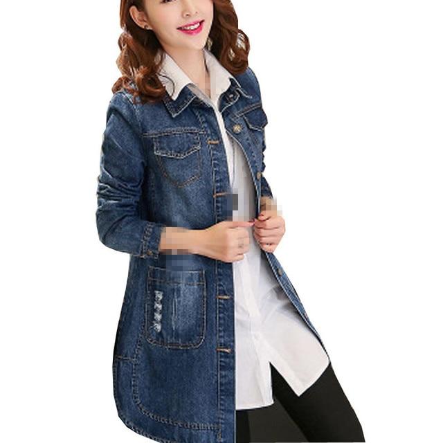80916a17aa3e B2012 spring autumn 2019 new women big size fashion wear long sleeves denim  jacket cheap wholesale