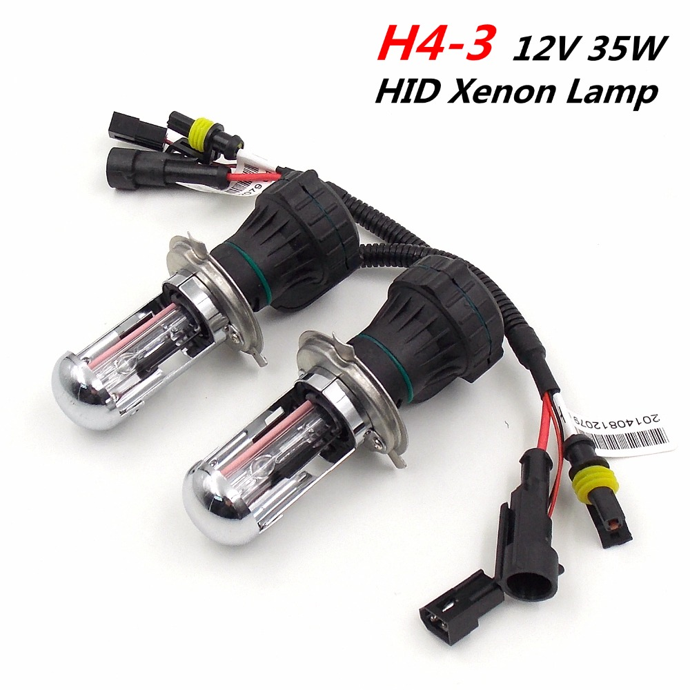 (1Pair) H4 H4-3 12V 35W Hi/Lo HID Xenon Lamps Headlight Bulbs Car External Lights (3000K 4300K 6000K 8000K 10000K 12000K)