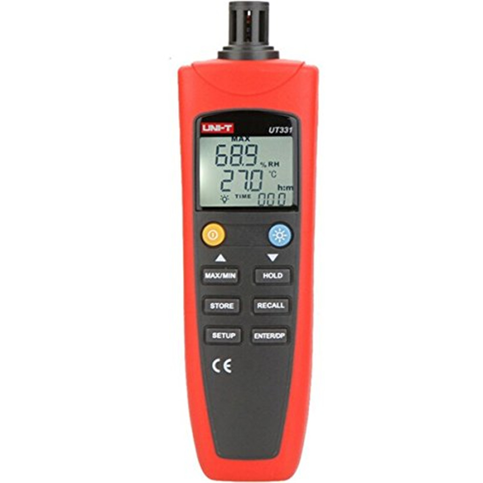 UNI-T UT331 Digital Thermo-hygrometer Thermometer Temperature Humidity Moisture Meter Tester w/LCD Backlight & USB uni t ut330c 3 in1 ip67 portable usb temperature humidity air pressure tester