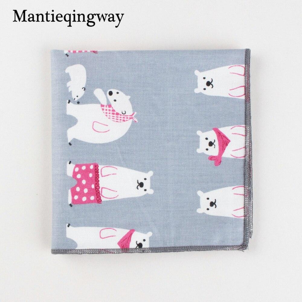 Mantieqingway Cotton Mens Suit Wedding Handkerchiefs Chest Towel Cartoon Pocket Square Formal Pocket Hanky Ladies Hankies