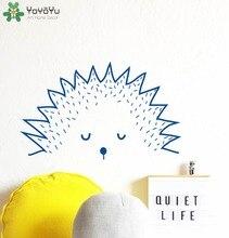Cute Animal Wall Decal Hedge Hog Vinyl Sticker For Kids Room Art Mural Baby Gift Home Decor Modern Design Nursery DIY SY421
