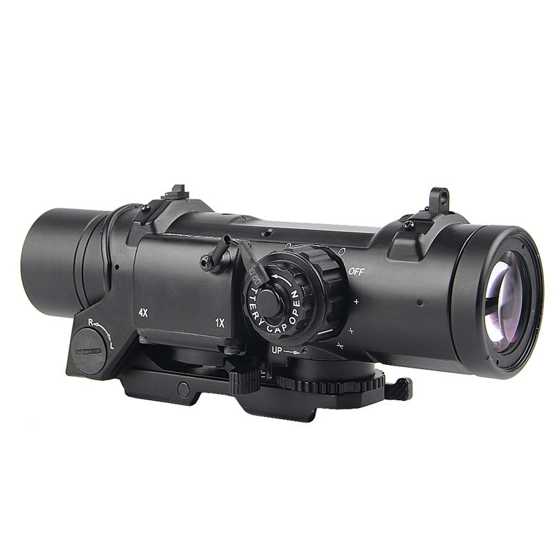 Tactical 4x Fixed Dual Role Optic Rifle Scope Fit 20mm Weaver Picatinny Rail