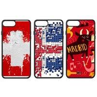Amour Suisse Suède Islande Madrid Espagne Barcelone Pays Ville Drapeau Téléphone Cas pour iPhone X 7/8 Plus Cas Phonecase Couverture