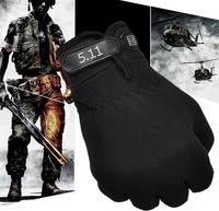 High Quality 4 Colors Brand 5 11 Tactical Series Men Full Finger Outdoor Cross Army Nonslip