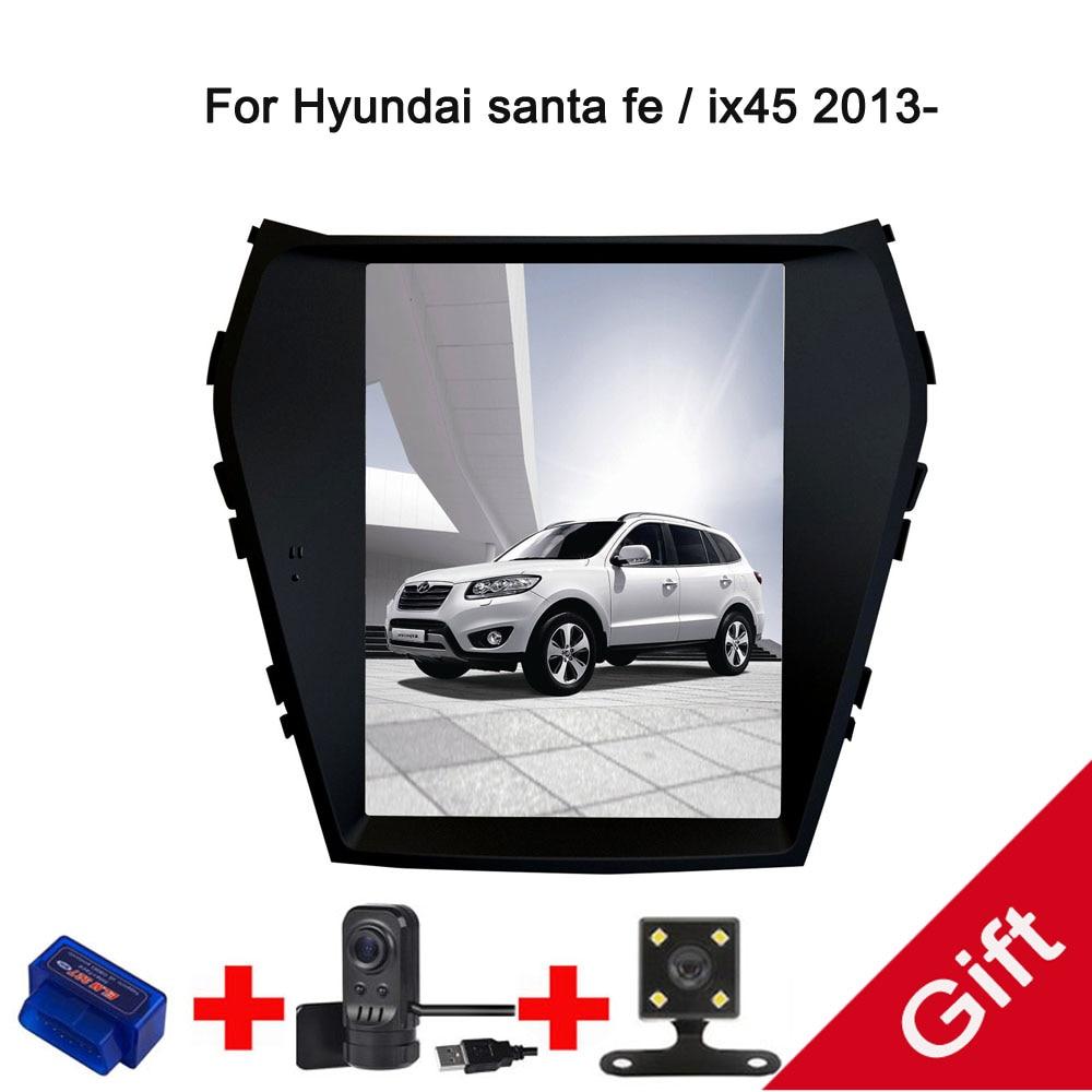 10.4 Tesla Type Android 7.1/6.0 Fit Hyundai santa fe / ix45 2013 2014 2015 Car DVD Player Navigation GPS Radio
