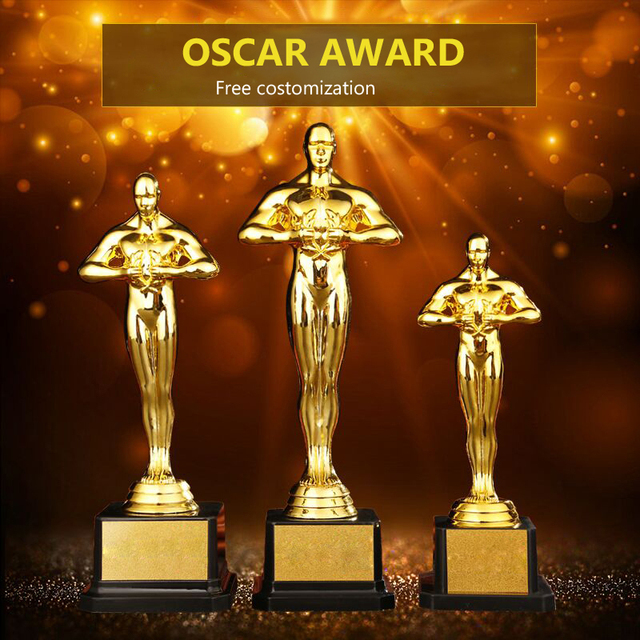 Customize Academy Award PC Oscar Trophy Gold Plated Little Golden Man Team Sports Competition Craft Souvenir Gifts 19/22/24/26cm