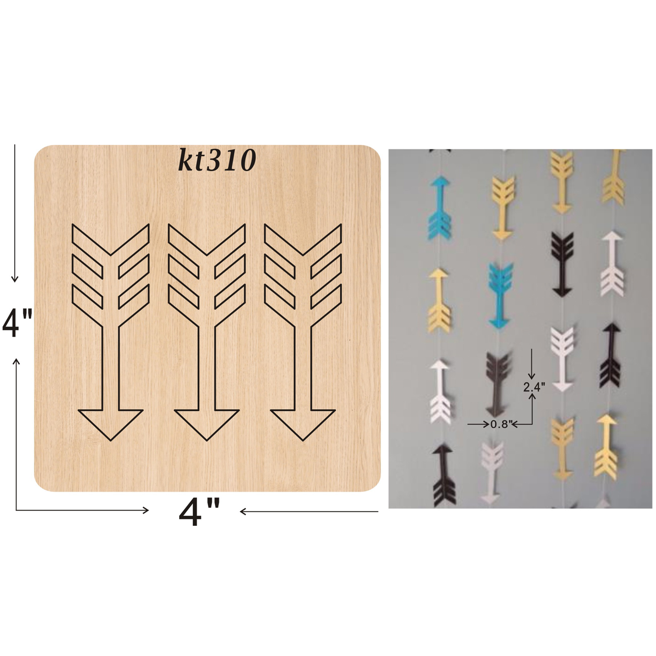 Arrow Earrings  cutting dies 2019 new die cut &wooden Suitable for common machines on the market