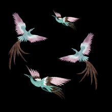 1Set/lot Embroidered Cloth Patches Peacock Birds Sew on Clothes Embroidery Stickers DIY Patch Clothing Appliqued Badges A1439
