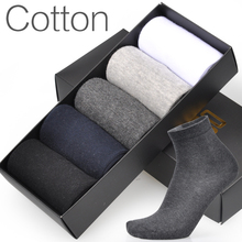 5 Pairs / Lot Men Socks Brand New High Quality Cotton Dress Business Casual Breathable Summer Autumn Man Long Sock