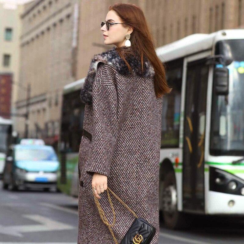 De Vintage Automne Zt1078 Fourrure Manteaux Femme Coréen Femmes 2018 Color Tops Vêtements Laine Picture Veste Hiver Véritable Manteau D2I9WHE