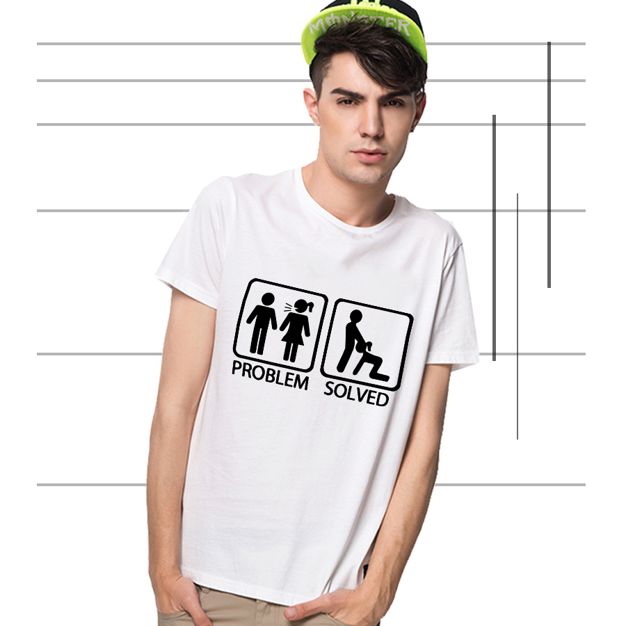 Unique pattern print problem solved male t shirt short for Unusual shirts for men