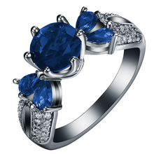 Red Black Engagement Rings Us 7 8 9 New Vintage Blue Green Cz Finger Jewelry Wedding Crown 2018 Hot For Women