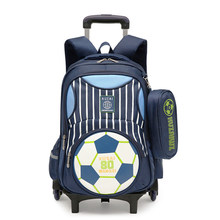 ZIRANYU Latest Kids school bags boys girls Trolley School Bag Luggage Backpack Removable Children School Bags With 2/6 Wheels(China)