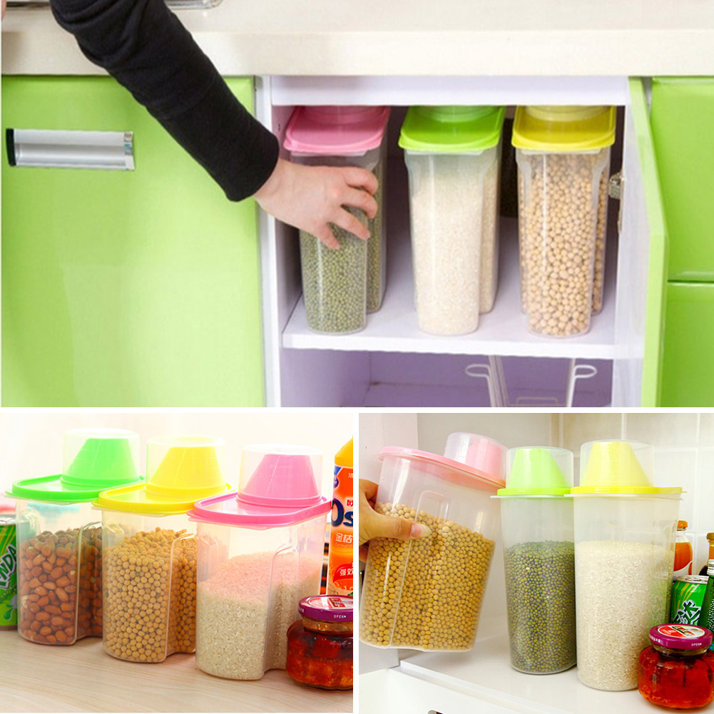 getSubject() aeProduct. & 1.8/2.5L Plastic Dried food Cereal Flour Rice storage Box grain ... Aboutintivar.Com