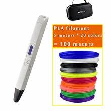 Новинка, RP800A, 3D профессиональный принтер, ручка с OLED экраном, 3d Рисунок, цифровая ручка для рисования, художественное ремесло, изготовление и образование