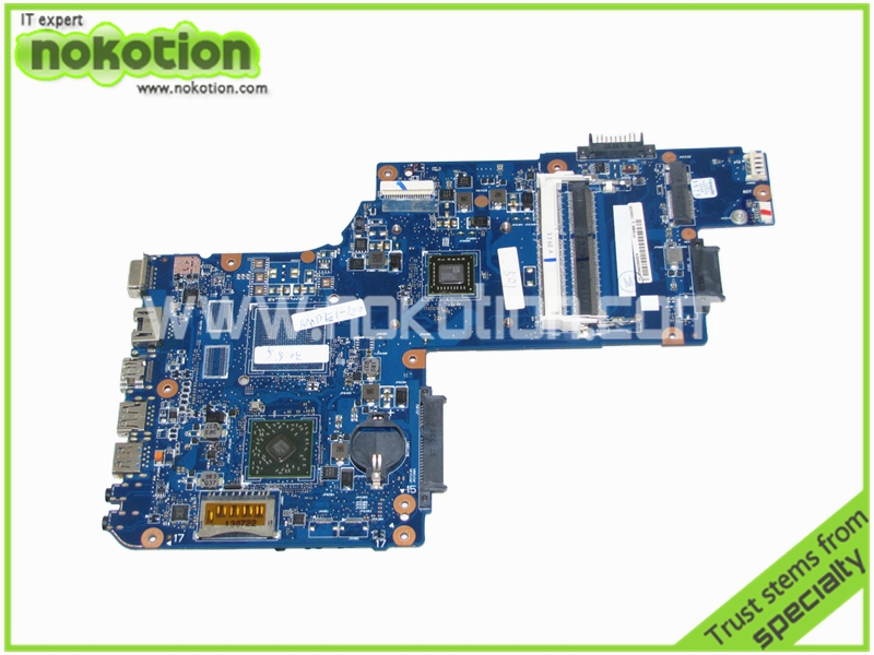 NOKOTION H000062150 Laptop Motherboard for Toshiba Satellite C50 PT10ABX PT10ABXG 15 inch E1200 CPU onboard Mainboard nokotion sps v000198120 for toshiba satellite a500 a505 motherboard intel gm45 ddr2 6050a2323101 mb a01