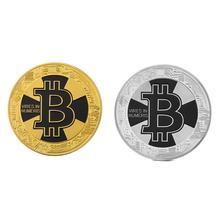 Hot Sale Bitcoin Litecoin Dash Coin Non-currency Gold-plated Iron Commemorative Collectible Coins Art Collection Souvenir Gifts