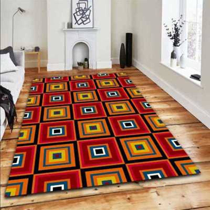 Objective 3d Retro Dry Wood Grain Ring Large Carpet For Living Room Anti-slip Sofa Tatami Floor Mat Table Rug Outdoor Crawling Play Mat Home & Garden