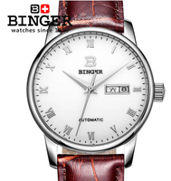 Fashion Hot Sale White&Brown Color Genuine Cow Leather Circle Roman Watch Business Mens TOP Quality Wrist Watches Free Shipping