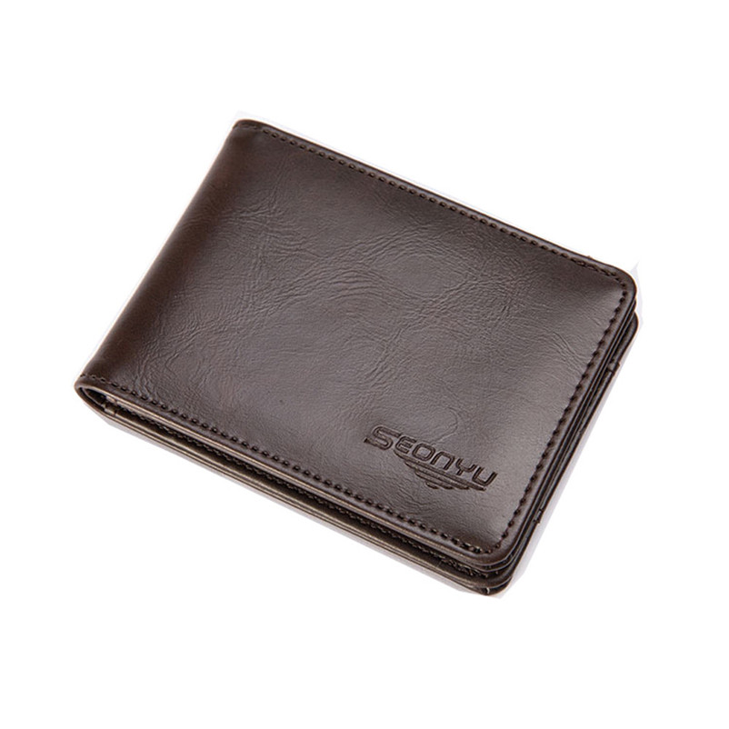 2017 Hot Sale Famous Brand Men Bifold Business Leather Wallet ID Credit Card Holder Purs ...